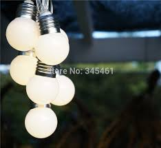 1x led solar powered led string light 4m 10 g50 bulb waterproof
