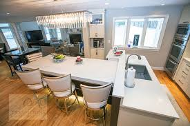 t shaped kitchen island transitions kitchens and baths customized contemporary kitchen