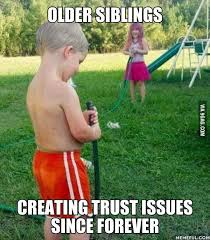 Brother Sister Memes - 9gag on twitter hands up if you have an elder sister brother who