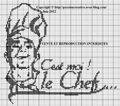 point de croix cuisine grille gratuite point de croix cuisine c est moi le chef