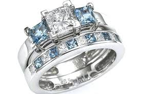 aquamarine wedding rings aquamarine with diamond ring aquamarine wedding rings uk pinster