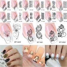 aliexpress com buy 1 sheet top sell black lace flower nail water