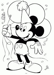 happy birthday mickey mouse coloring pages tsumtsumplush com