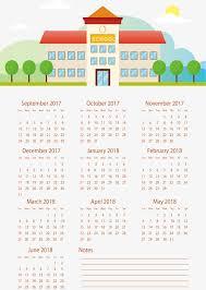 Calendar 2018 Ai Template School Building Calendar 2018 Vector Png Calendar 2018 Calendar