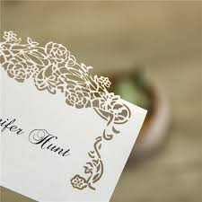 place cards affodable floral laser cut place card ewpc005 as low as 0 32