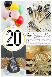 New Years Eve Decoration Ideas Diy by 20 New Years Eve Diy Decor Ideas The Crafted Sparrow