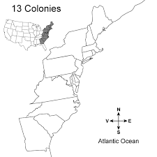 the thirteen colonies map 13 colonies map activity a printable from test designer crafts