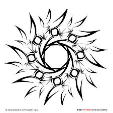 tribal yin yang sun photos pictures and sketches