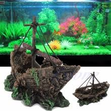 popular aquarium shipwreck ornaments buy cheap aquarium shipwreck