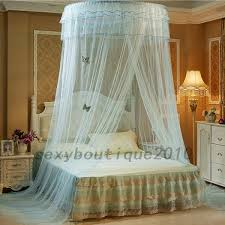 Lace Bed Canopy Dome Mesh Lace Mosquito Net Bed Canopy Bedding Netting