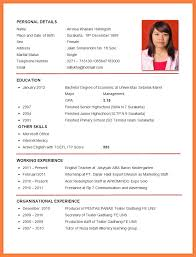 make resume format resume format for krida info