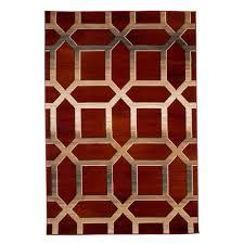 lavish home opus art deco burgundy 8 ft x 10 ft area rug 62 30 r