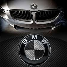 black and white bmw logo combo bmw 68mm 74mm 82mm badge black white carbon style