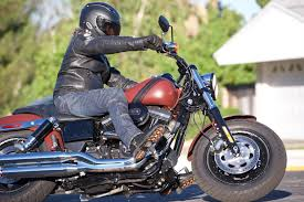 cruiser motorbike boots 2017 harley davidson fat bob review muscular ride