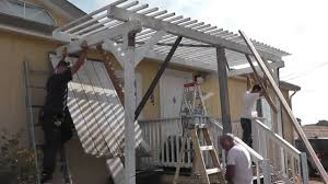 setting up a trellis pergola porch roof shade u0026 getting hit in