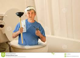 Funny Toilet Paper Humorous Funny Plumber Inside Toilet With Tools And Toilet Paper
