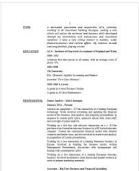 Sample Investment Banking Resume by Wonderful M A Experience On Resume 94 With Additional Example Of