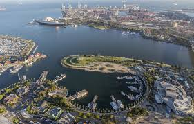 Long Beach California Map Shoreline Aquatic Park Long Beach Ca California Beaches