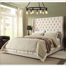 bedroom magnificent black iron headboard white plush headboard