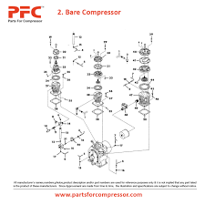 11 02 bare compressor for 15t2 ir 15t2 parts