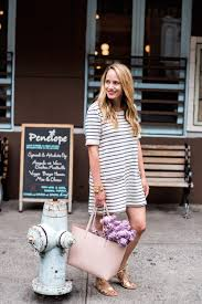 french connection normandy stripe terry shift dress loeffler