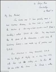 world u0027s most expensive letter francis crick u0027s note announcing dna