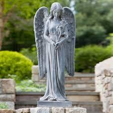 garden ornaments angels modern style home design ideas