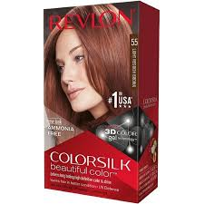 reddish brown hair color revlon colorsilk beautiful color permanent hair color 55 light