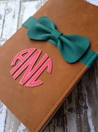 monogrammed bow bible great idea for proposals newly weds baby
