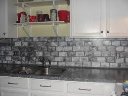 kitchen faux brick wall tiles fake paver backsplash like tin