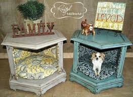How To Make A Dog Bed Side Table Leopard Pet Bed End Table By Crossbonedog On Etsy