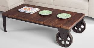 industrial coffee table with wheels peenmedia com