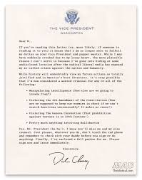How To Write A Resignation Letter Template Exclusive Vice President Cheney U0027s Resignation Letter Mad