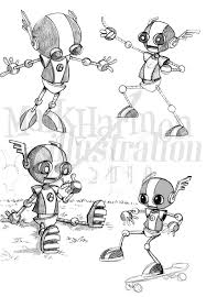the blog of mark harmon illustration robot sketches