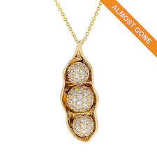 3 peas in a pod jewelry bitton galerie de bijoux 14k gold 0 72ctw diamond 3 peas