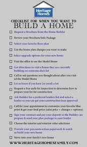 checklist of what to do when you want to build a home the steps