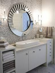 Mirrored Bathroom VanityBeautifully Appointed Bathroom Boasts - Vanity mirror for bathroom