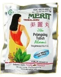 Jamu Pelangsing Merit qoo10 merit slimming pills diet wellness