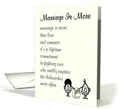 Funny Wedding Wishes Cards Marriage Is More A Funny Wedding Congratulations Poem Card