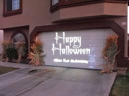 homemade garage door halloween decorations halloween garage door