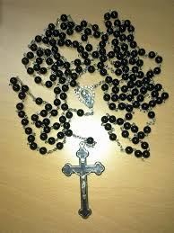15 decade rosary 15 decade habit rosary black agate rosaries i