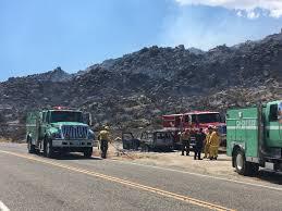 Wildfire Near Julian Ca by Borrego Springs East County Magazine