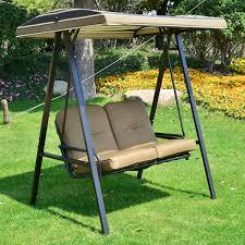 outsunny garden patio swing chair 2 seater swinging hammock