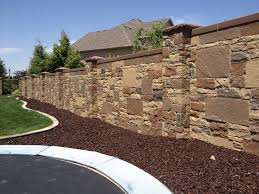 privacy fencing concrete walls realistic stone texture and latest