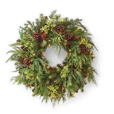 pre lit wreath outdoor pre lit wreath frontgate