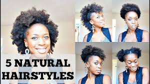 Hairstyles Easy And Quick by 5 Quick And Easy Hairstyles For Short Natural Hair