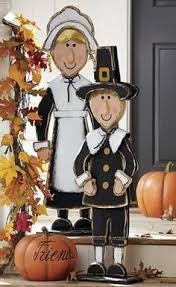 thanksgiving pilgrim statues thanksgiving pilgrim and turkey by yardartandsomuchmore