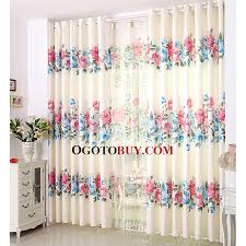 Red Blue Curtains Decorative Girls Bedroom Blue And Red Floral Curtains Buy Blue