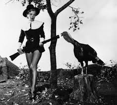 fashion and happy thanksgiving retro turkey and pilgrim