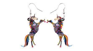 unicorn earrings unicorn celebration earrings kin